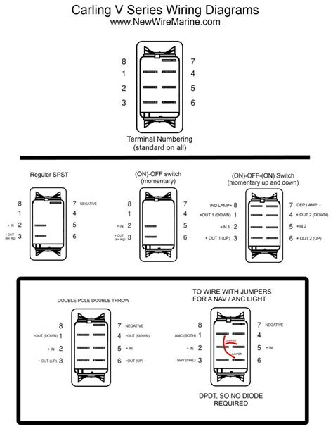 8 Terminal Rocker Switch Wiring Diagram 3 Way carling contura rocker switches explained the hull