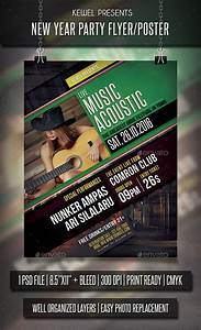 Live Music Acoustic flyer / templates | Flyer template ...