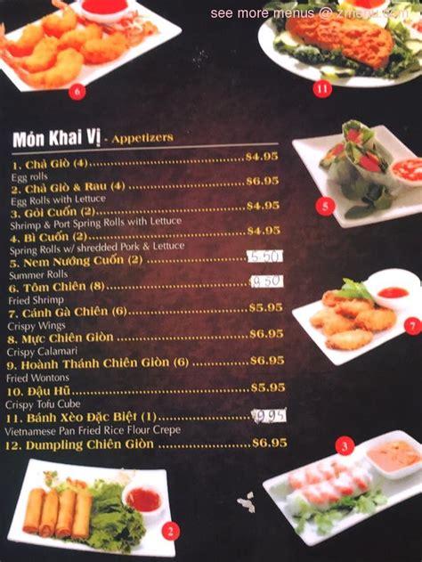 menu  love pho cafe restaurant oxnard