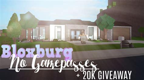 bloxburg  gamepasses house  youtube