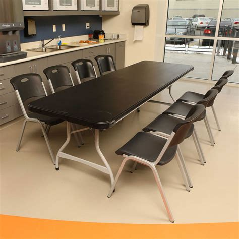 folding 8 foot table lifetime 480462 black lifetime 8 39 4 pack tables on sale