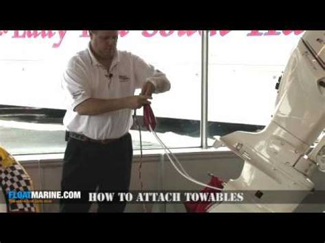 How To Tie A Tube To A Pontoon Boat boat parts how to attach towables youtube