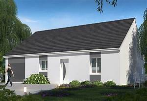 Maison Plain Pied En L : plan maison individuelle 3 chambres 90 habitat concept ~ Melissatoandfro.com Idées de Décoration