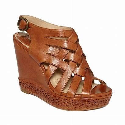 Wedge Sandals Frye Corrina Cognac Brown Shoes