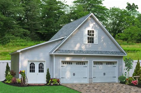 pre built 2 story garage buy a 2 car garage with attic space direct from garage