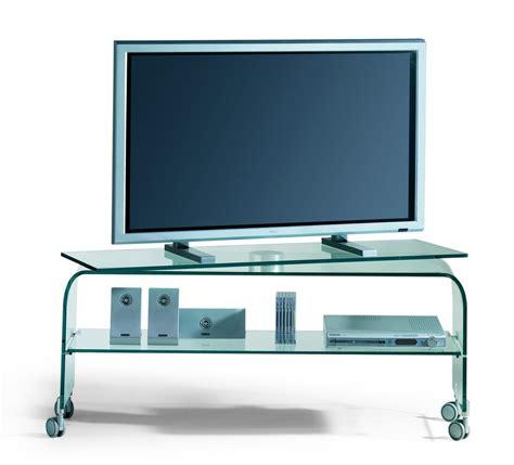 porta tv cristallo mobile porta tv in cristallo curvato con piano girevole reflex