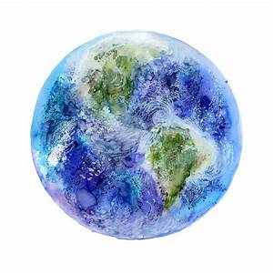 Planet Earth Watercolor Painting |Solar System Art | Tiny ...
