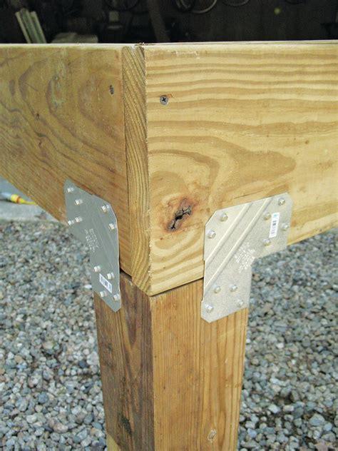 post  beam hardware professional deck builder
