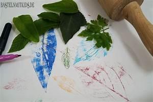 Mit Blättern Basteln : einfache bl tter bilder malen basteln mit kindern ~ A.2002-acura-tl-radio.info Haus und Dekorationen