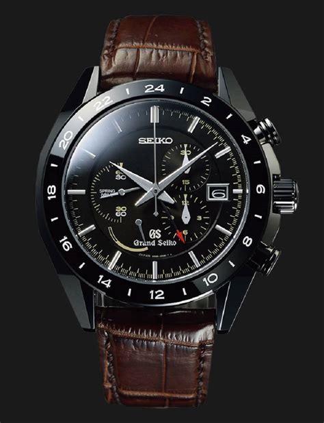grand seiko black ceramic chronograph sbgc  hands