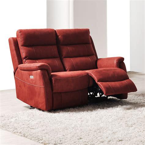 canapé relax 2 places canape relax lectrique 2 places en tissu sofamobili
