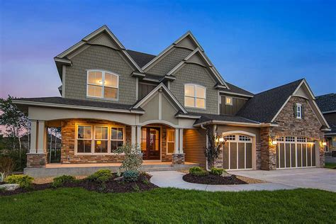 exclusive craftsman house plan  amazing great room