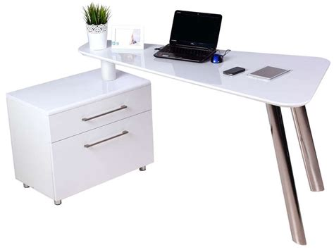 caisson bureau blanc laqué bureau 140 cm caisson 2 tiroirs travis coloris blanc