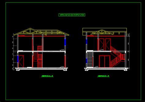 desain rumah format autocad