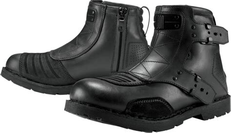 Motorcycle Boots : Icon 1000 El Bajo Leather Motorcycle Boots