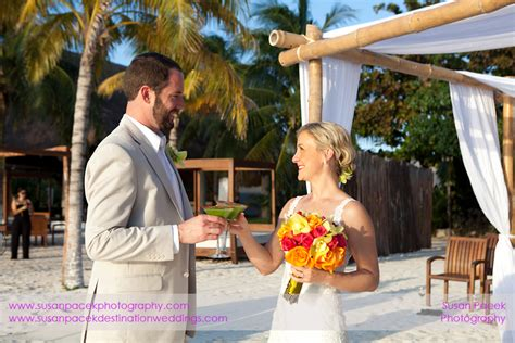 zama beach club wedding isla mujeres lacie andre