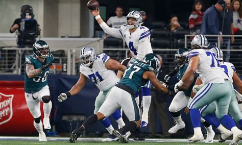 week  cowboys lead eagles      total