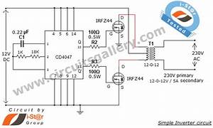 A Simple Low Power Iverter Using Cd4047 Ic