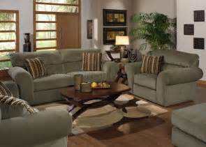 sage fabric transitional sofa loveseat set w options