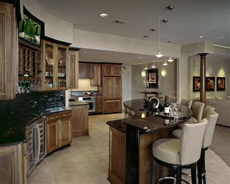 decorate kitchen cabinets this beautiful lower level kitchen with s shaped 3110