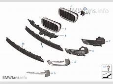 Trim, decor elements, front BMW X5 F15 X5 M50dX N57X Europe