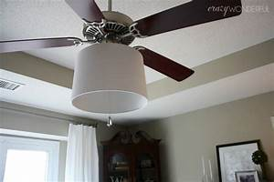 Adding a drum shade to ceiling fan crazy wonderful