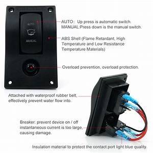 12v Led Bilge Pump Auto  Off  Manual Rocker Switch 10a Fuse