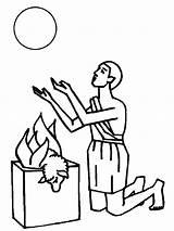 Coloring Abel Biblia Cain Dibujos Colorear Sheep Burn His Coloringsky Sacrifice sketch template
