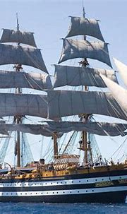 Tour Amerigo Vespucci, Tall Ship from Italy arriving in ...