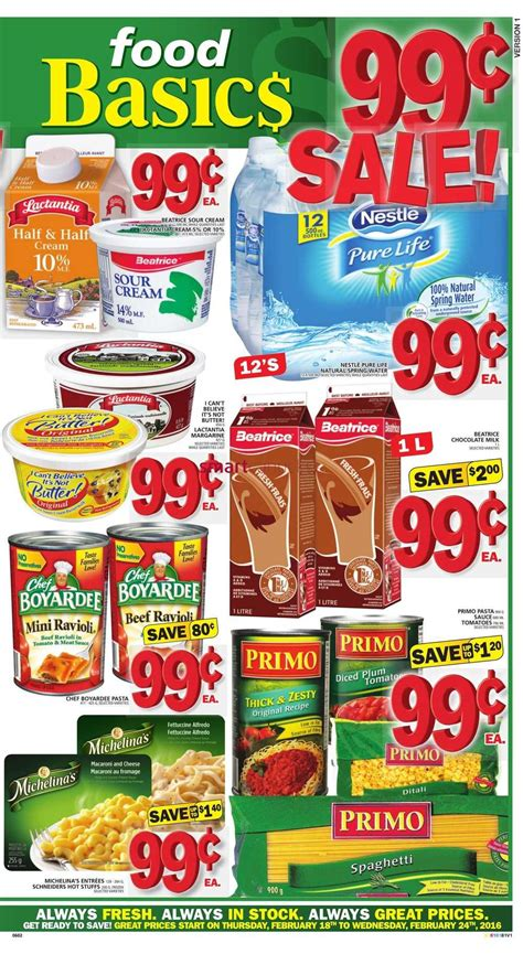 basics of cuisine food basics canada flyer february 18 to 24 food basics flyer