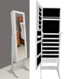 full length mirror with jewelry storage modern bedroom