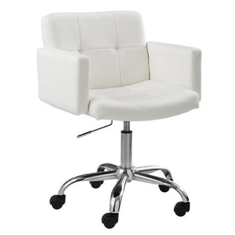 white office chair leather white leather swivel desk chair chairs seating