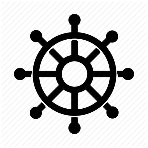 Boat Driving Wheel by Ship Steering Steering Wheel Wheel Icon