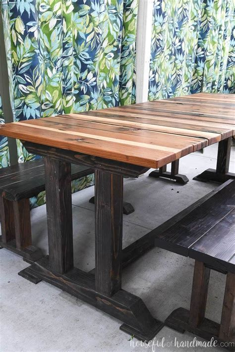 modern picnic table woodworking plans houseful  handmade