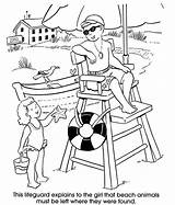 Lifeguard Coloring Pages Beach Sheets Drawing Stand Colouring Chair Adult Printable Summer Sheet Dover Welcome Books Getcolorings Publications Preschool Party sketch template