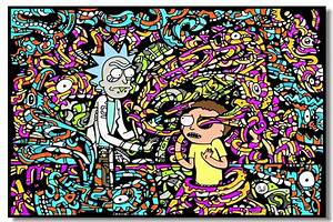 Custom Canvas Wall Murals Rick And Morty Poster Rick And
