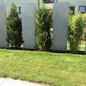 sichtschutz garten stein und pflanzen hang garten With französischer balkon mit pflanzen als sichtschutz im garten