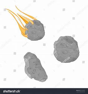 Vector Illustration Asteroid Meteorite Falling Meteorite ...
