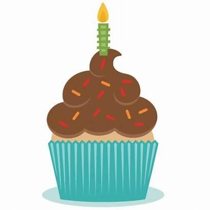Cupcake Birthday Clipart Silhouette Cricut Svg Cut
