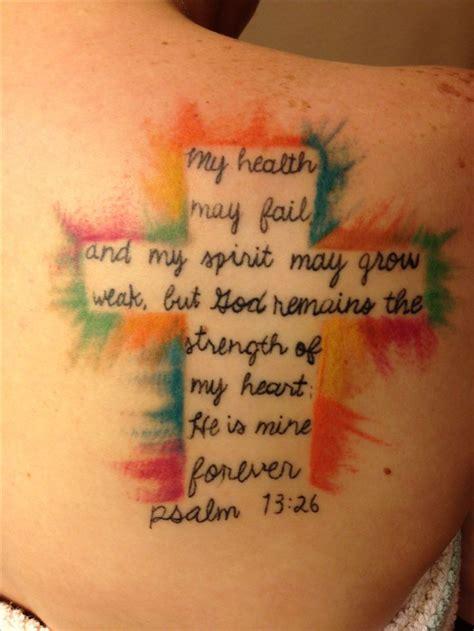 My Crossbible Verse Tattoopsalm 7326 Tattoos Art