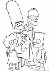 Coloring Simpsons Popular sketch template