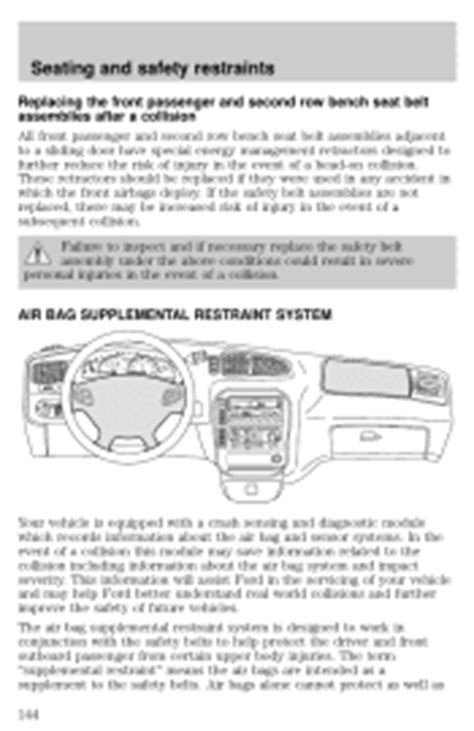 online service manuals 2001 ford windstar electronic valve timing 2001 ford windstar problems online manuals and repair information