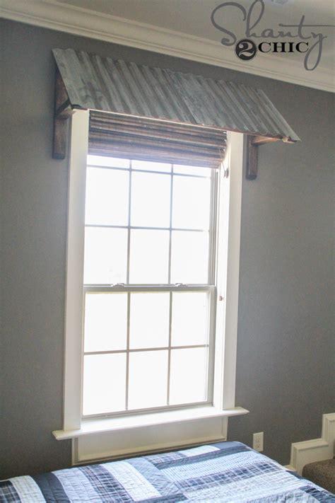 diy corrugated metal awning shanty  chic