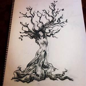 Tatouage Arbre Japonais : dessin tatouage symboles arbre avec femme tatouage femme ~ Melissatoandfro.com Idées de Décoration
