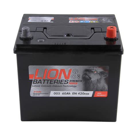 Type 005 Car Battery 420cca Lion Batteries 60ah 3 Years