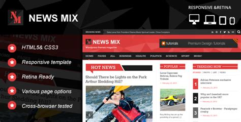 News Mix Responsive Html Website Template Kopasoft