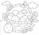 Coloring Easter Pasqua Vector Eggs Basket Vettore Kleuren Colorano Uova Canestro Delle Che Colorare Mandala Paaseieren Decorativo Het Della Wielkanoc sketch template