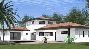 Maison En L Moderne : maison moderne en l avec tage lb cr ation ~ Melissatoandfro.com Idées de Décoration