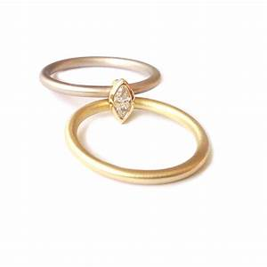 18k white and yellow gold 2 band engagement and wedding With 18k wedding rings