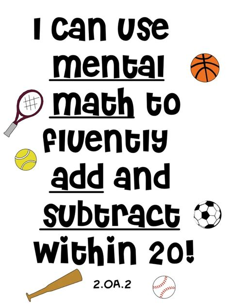 Iintegratetechnology Free 2nd Grade Common Core Operations And Algebraic Thinking Sport Theme